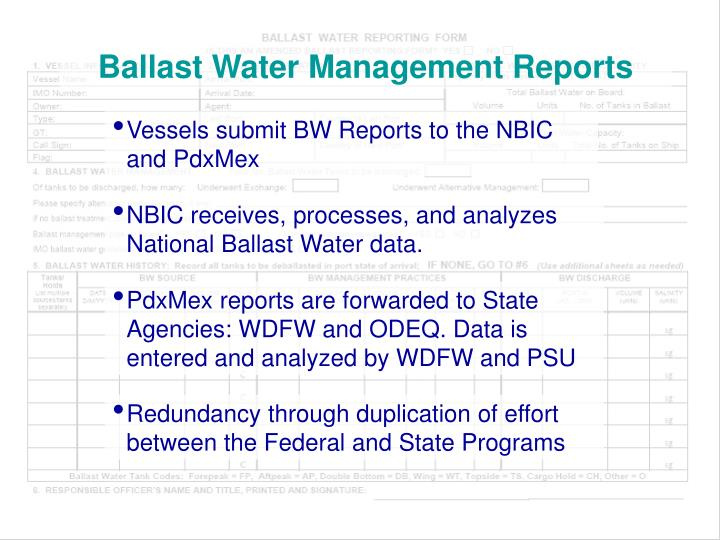 Ballast Water Management Reports