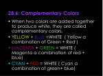 28 6 complementary colors