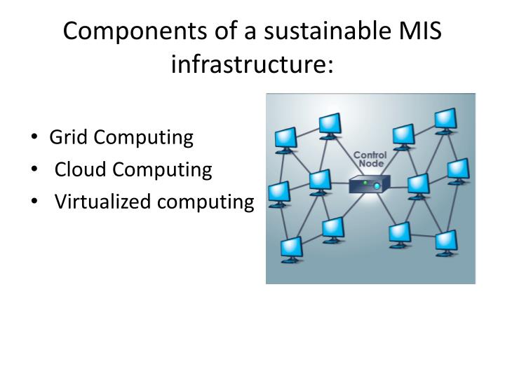 components of a sustainable mis infrastructure
