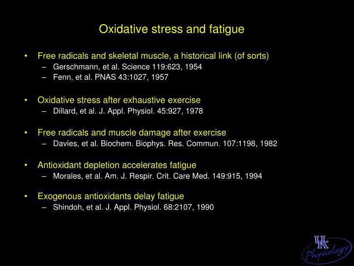 Oxidative stress and fatigue