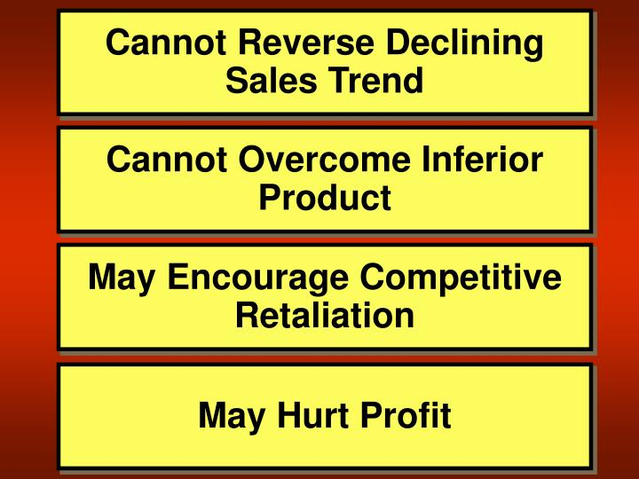 Cannot Reverse Declining Sales Trend