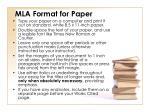 mla format for paper