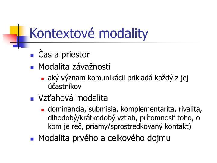 Kontextové modality