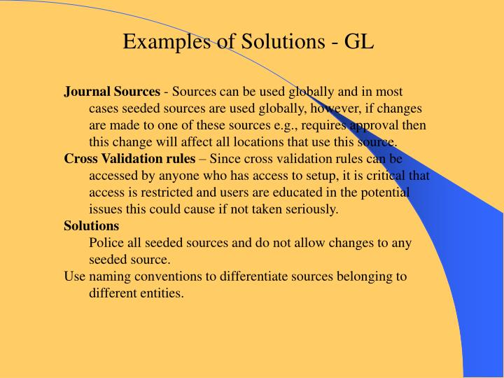 Examples of Solutions - GL