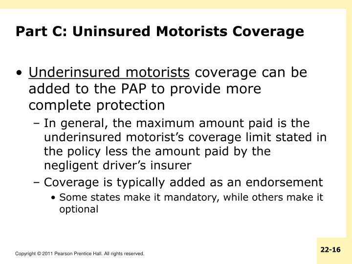 Part C: Uninsured Motorists Coverage