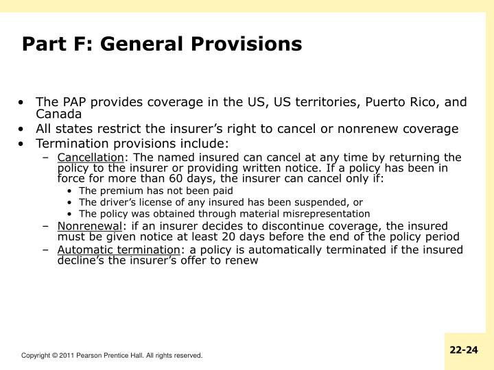 Part F: General Provisions
