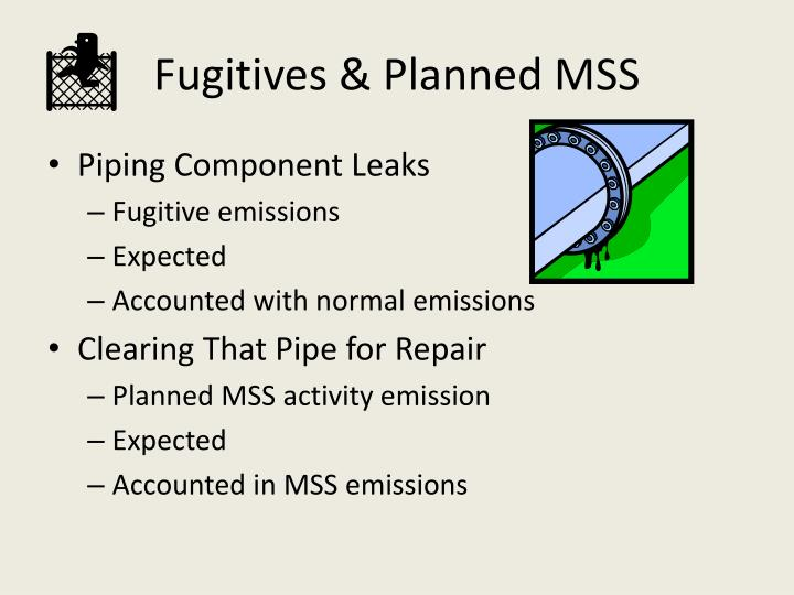 Fugitives & Planned MSS