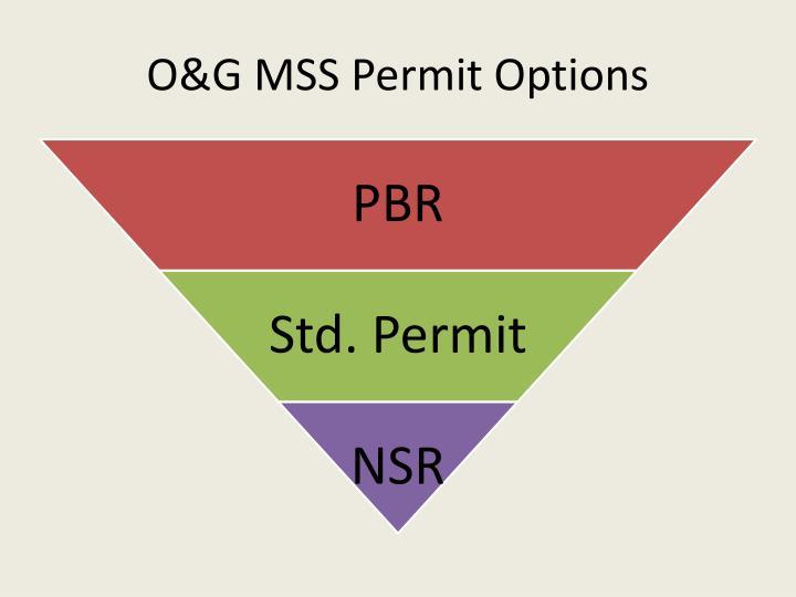 O g mss permit options