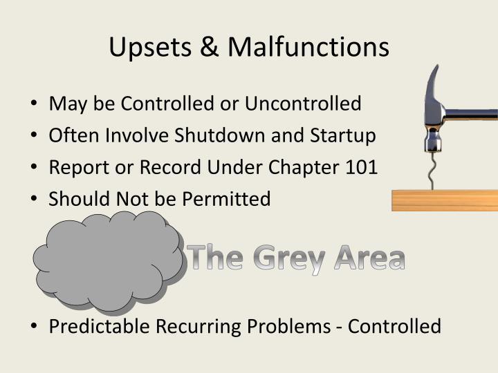Upsets & Malfunctions