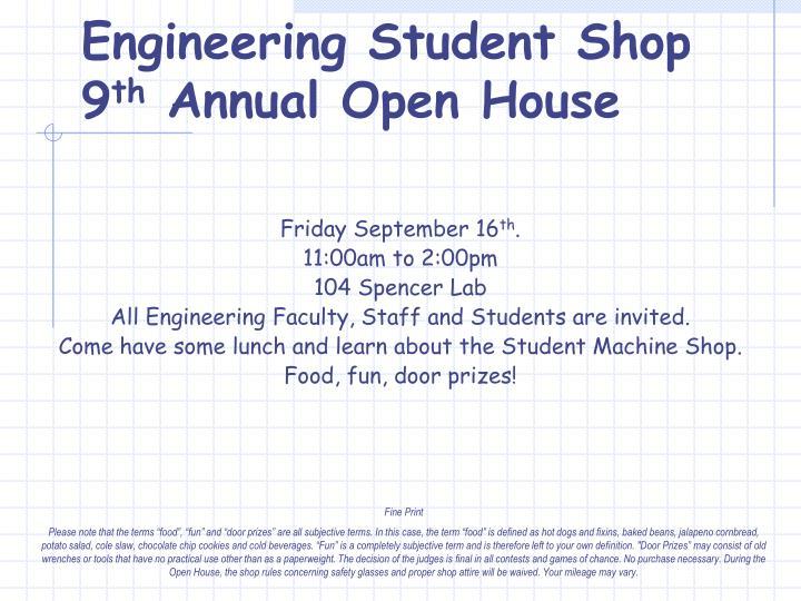 Engineering Student Shop