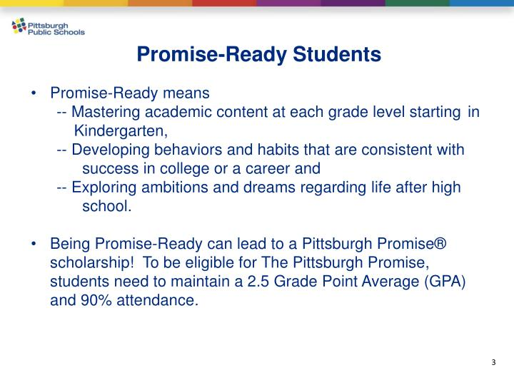 Promise-Ready Students