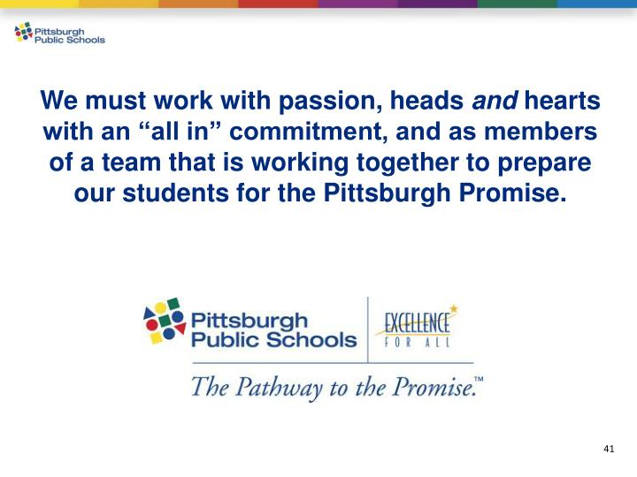We must work with passion, heads