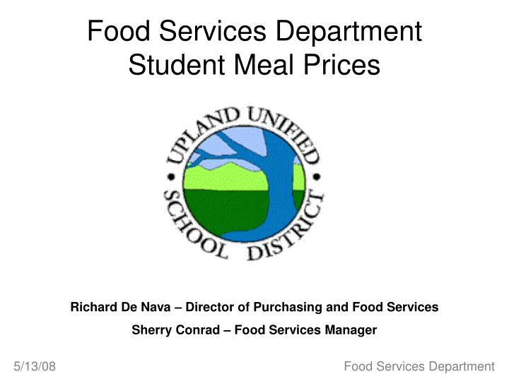 food services department student meal prices n.