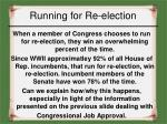 running for re election