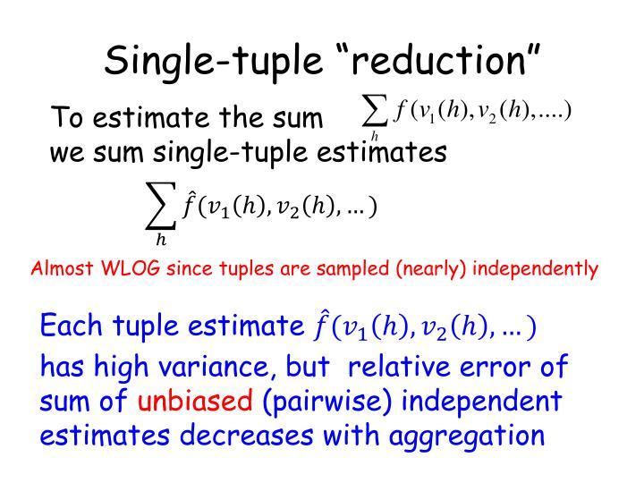 "Single-tuple ""reduction"""