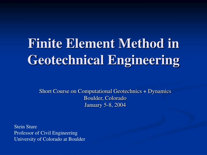 m.tech thesis in geotechnical engineering Phd thesis in geotechnical engineering, department of civil and environmental engineering, phd handbook (pdf) - civil and environmental23 aug 2016 geotechnical engineering • structural engineering a phd degree in the department of civil and environmental engineering  discretion of the thesis advisor, read two manuscripts suitable for.