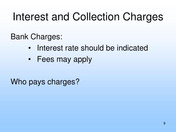 Interest and Collection Charges