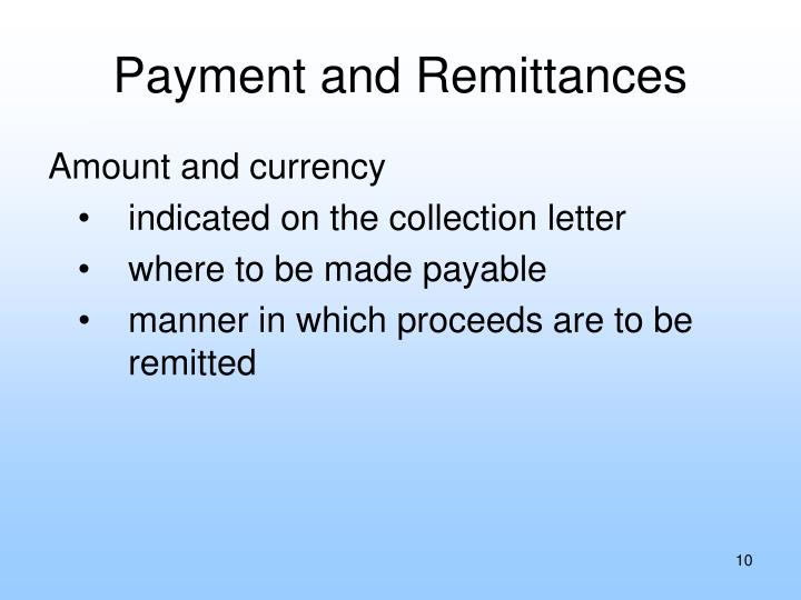 Payment and Remittances