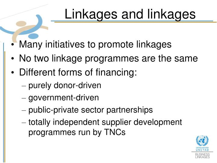 Linkages and linkages