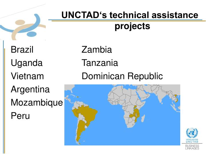 UNCTAD's technical assistance projects