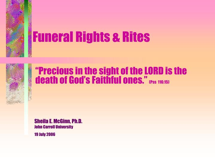 ppt funeral rights rites powerpoint presentation id 1731413