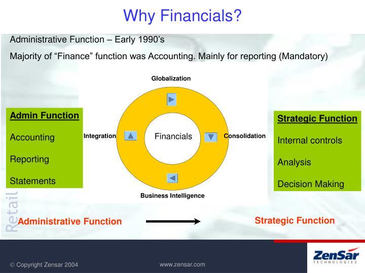 Why financials