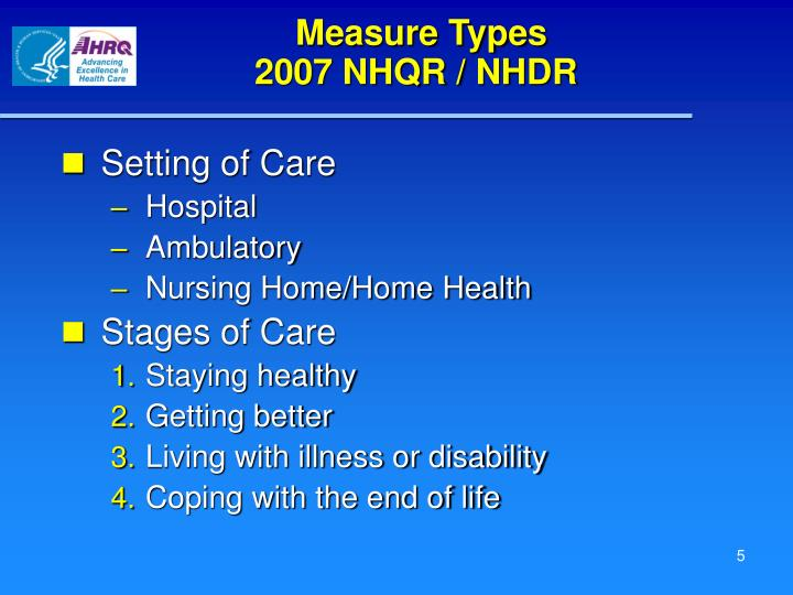 Measure Types