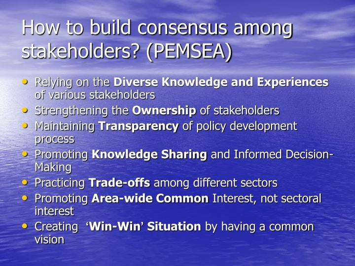 how to build partnerships with stakeholders
