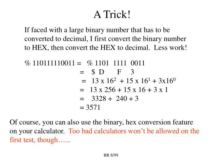 A Trick!