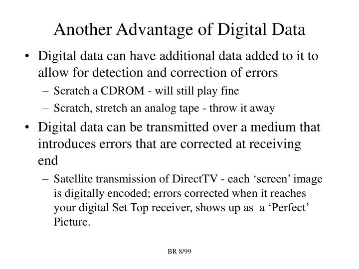 Another Advantage of Digital Data