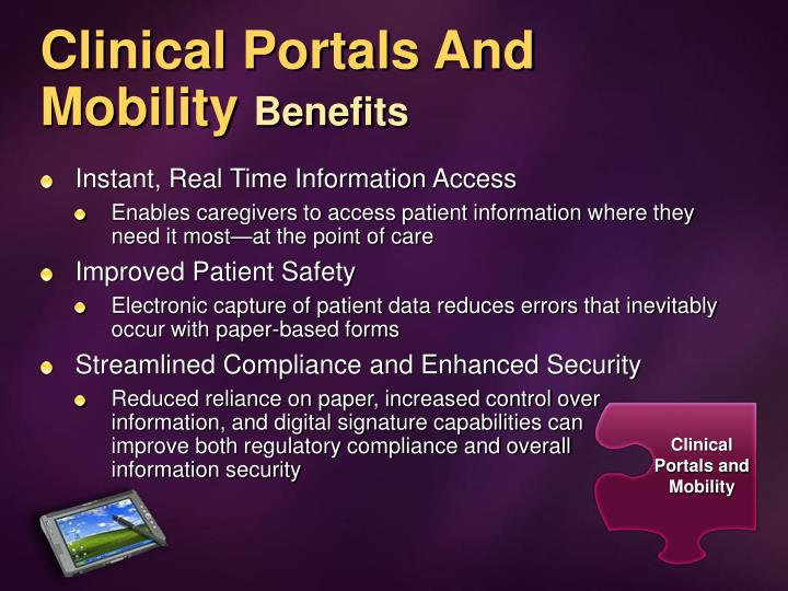 Clinical Portals And Mobility