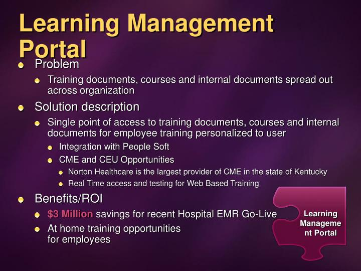 Learning Management Portal