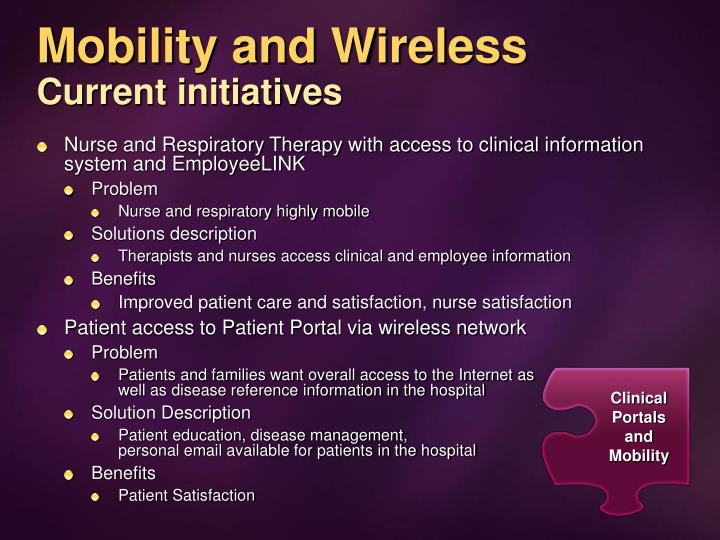 Mobility and Wireless