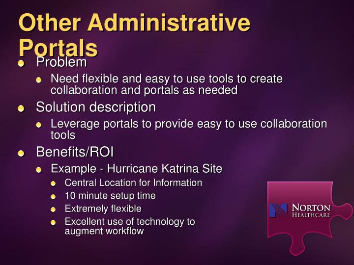 Other Administrative Portals