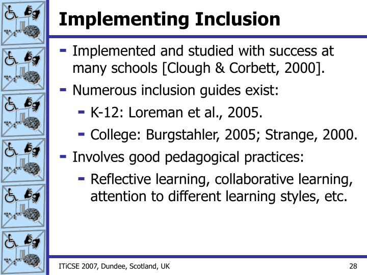 Implementing Inclusion