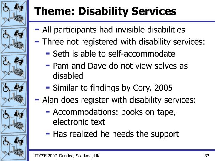 Theme: Disability Services