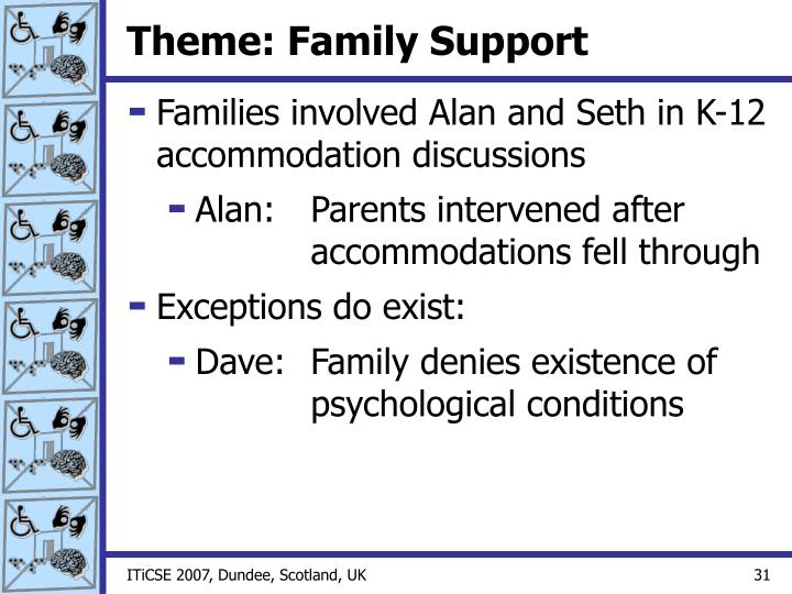 Theme: Family Support