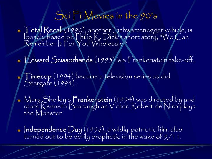 Sci Fi Movies in the 90's