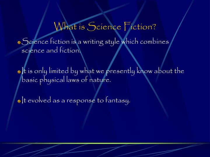What is science fiction