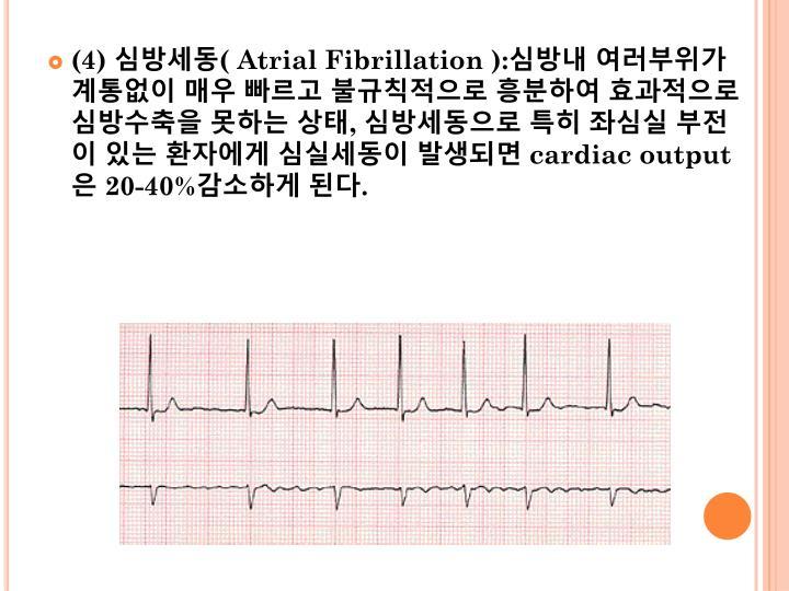 (4) 심방세동(