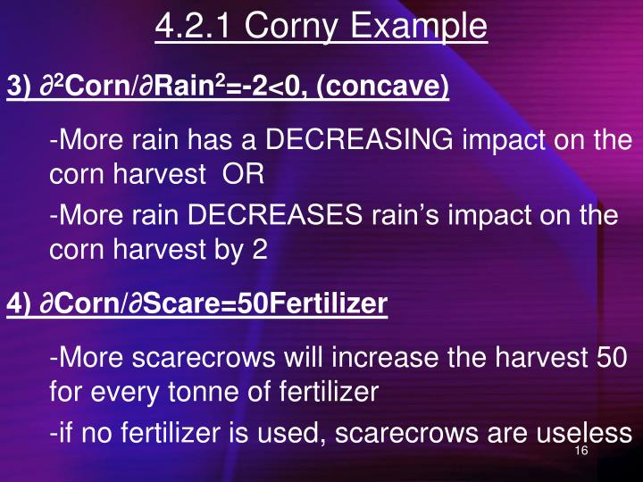 4.2.1 Corny Example