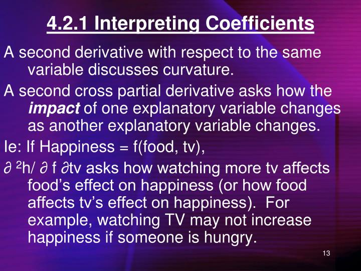 4.2.1 Interpreting Coefficients