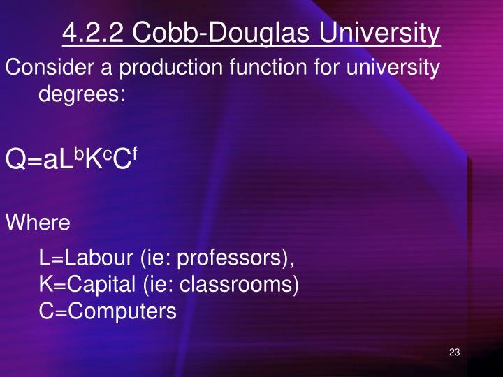 4.2.2 Cobb-Douglas University