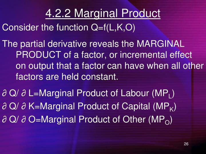 4.2.2 Marginal Product