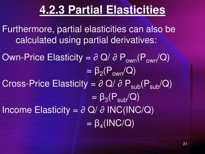 4.2.3 Partial Elasticities