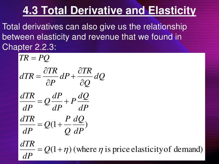 4.3 Total Derivative and Elasticity