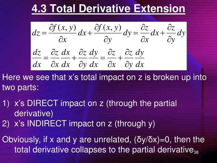 4.3 Total Derivative Extension