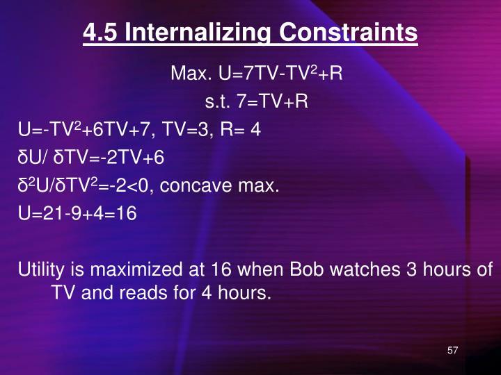 4.5 Internalizing Constraints