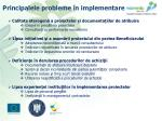 principalele probleme n implementare