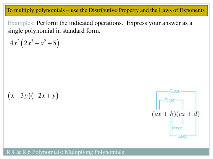 Ppt Chapter R Sections 4 Amp 6 Polynomials Powerpoint